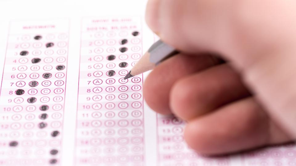 Standardized testing, SAT tests.