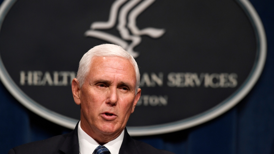 Vice President Mike Pence speaks during a news conference with the Coronavirus task force at the Department of Health and Human Services in Washington, Friday, June 26, 2020.