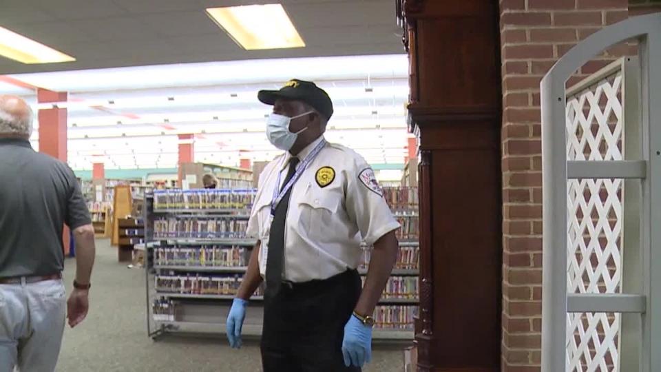 Warren Trumbull Library security guard