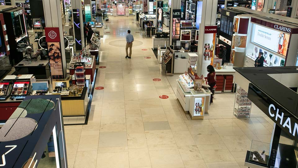 Workers prepare for the reopening of the Macy's Herald Square location Friday, June 19, 2020, in New York