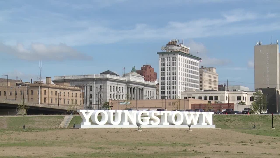 Youngstown, downtown, skyline