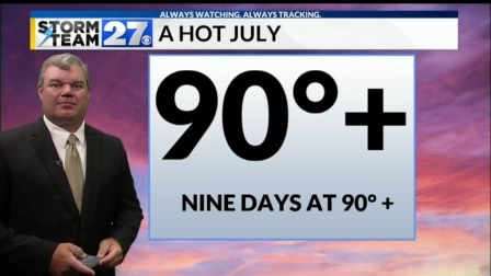 You have to go back 65 years to find a July as hot as 2020