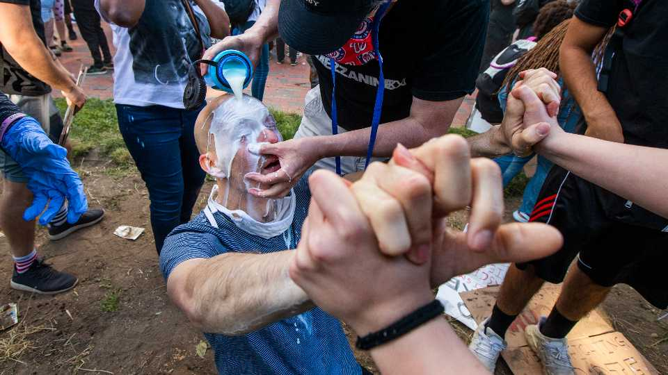 America Protests-Tear Gas-Virus