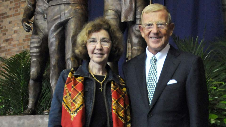 Beth and Lou Holtz, former Notre Dame coach