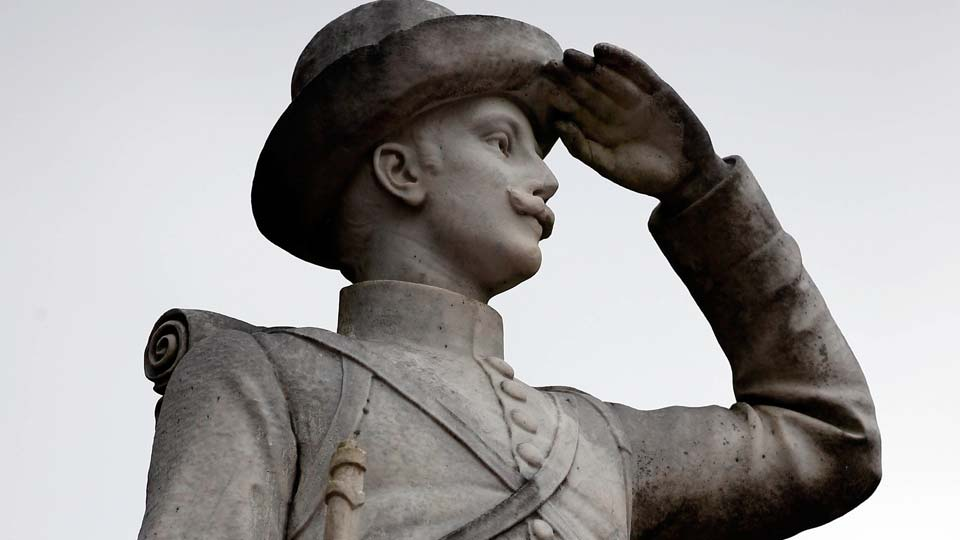 Confederate soldier monument stands at the University of Mississippi in Oxford, Miss