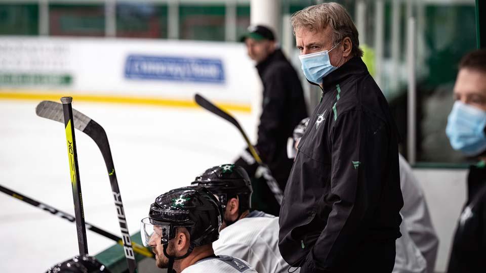 Dallas Stars NHL hockey team, interim head coach Rick Bowness
