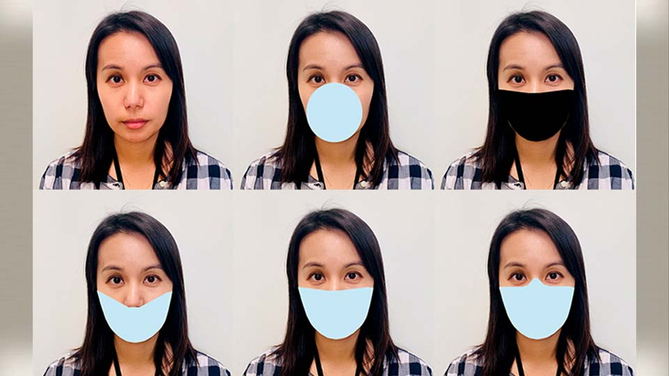 This photo provided by the National Institute of Standards and Technology (NIST) shows digitally applied mask shapes to photos and tested the performance of face recognition algorithms developed before COVID appeared.