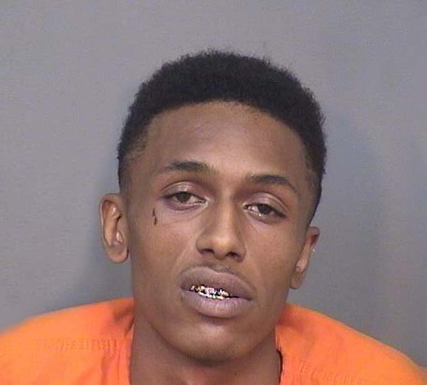 Jermaine Bunn Jr., 23, faces charges of carrying concealed weapons and being a felon in possession of a firearm as well as drug and obstruction charges.