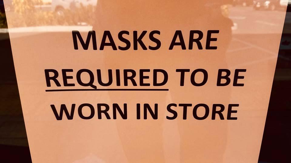 Coronavirus Masks Mandatory Sign