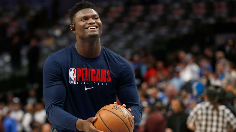 ew Orleans Pelicans forward Zion Williamson