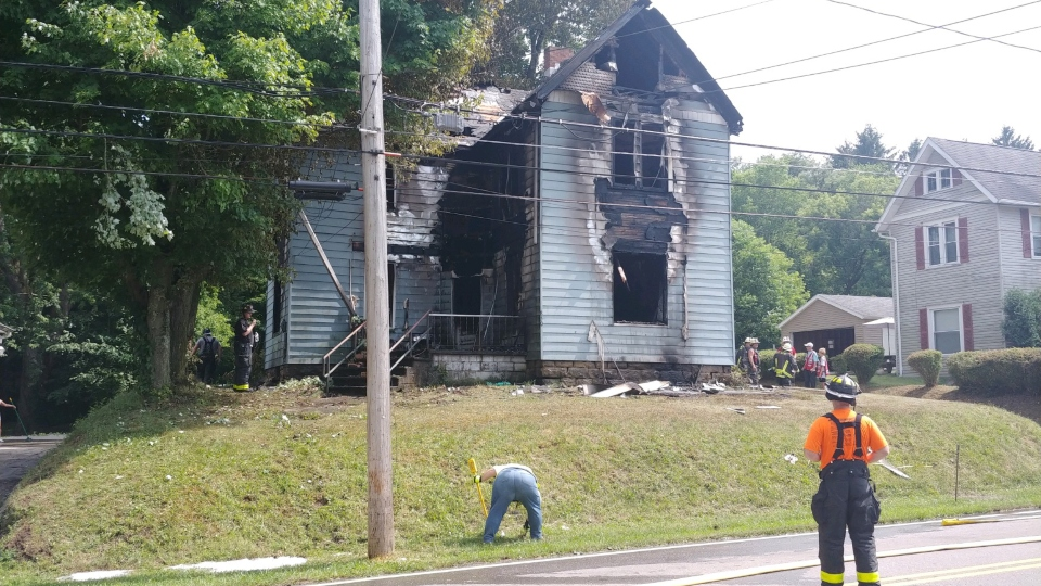 New Waterford house fire, West Main Street.