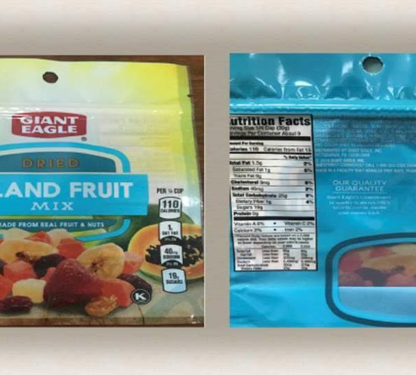 Recalled Island Fruit Mix