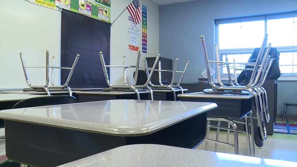Reynolds Schools, classroom, desks