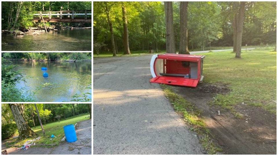 Police in Mercer County are looking for whoever vandalized a park in Greenville.