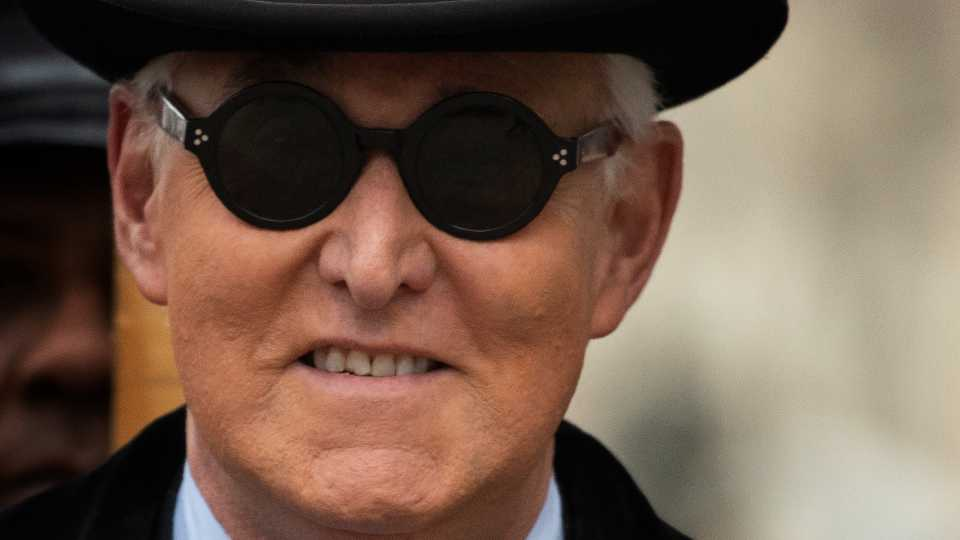 In this Feb. 20, 2020, file photo, Roger Stone arrives for his sentencing at federal court in Washington.