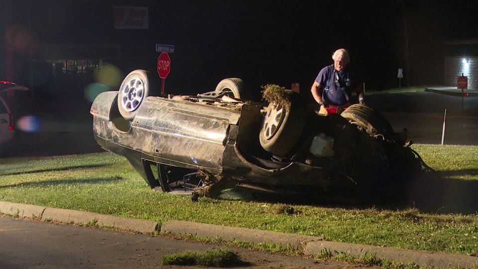 One person was flown to a local hospital after a rollover crash Thursday in Shenango Township.