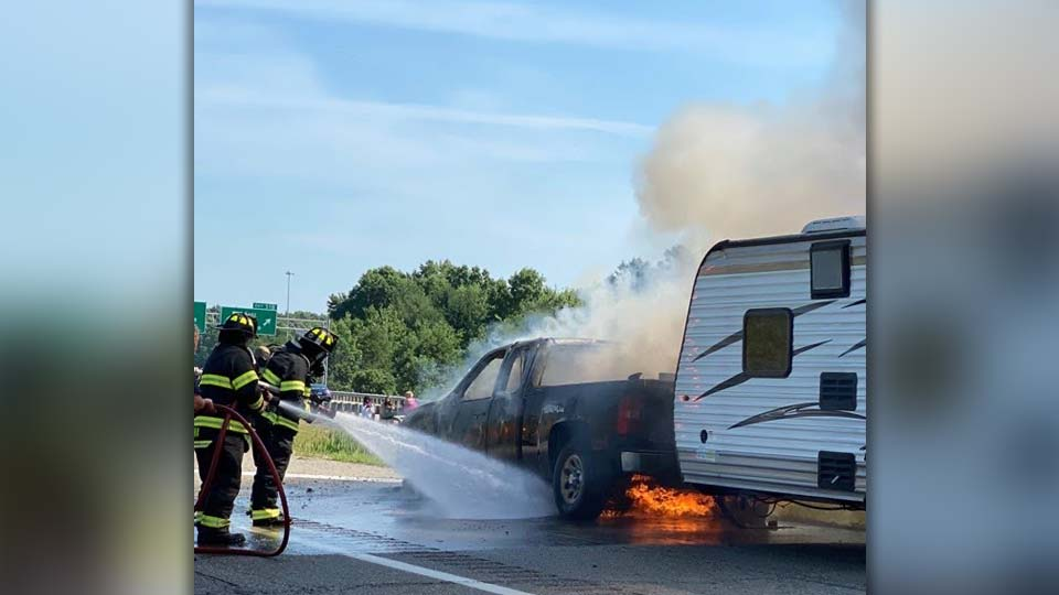 Truck on fire, July 3 (1)