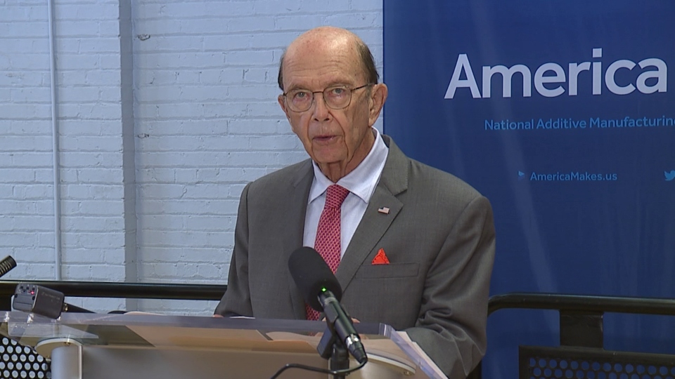 U.S. Secretary of Commerce Wilbur Ross, AmericaMakes in Youngstown