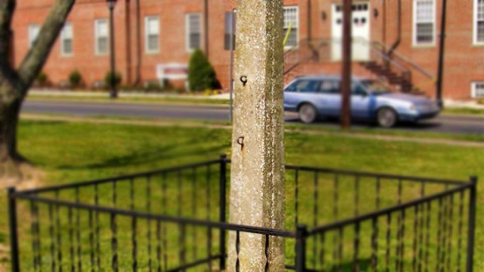 Whipping post, Delaware courthouse square