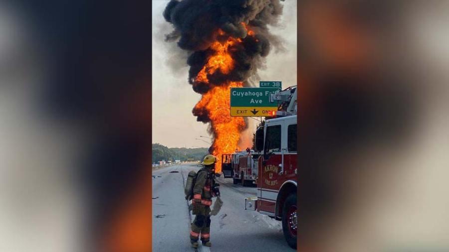Akron tanker fire