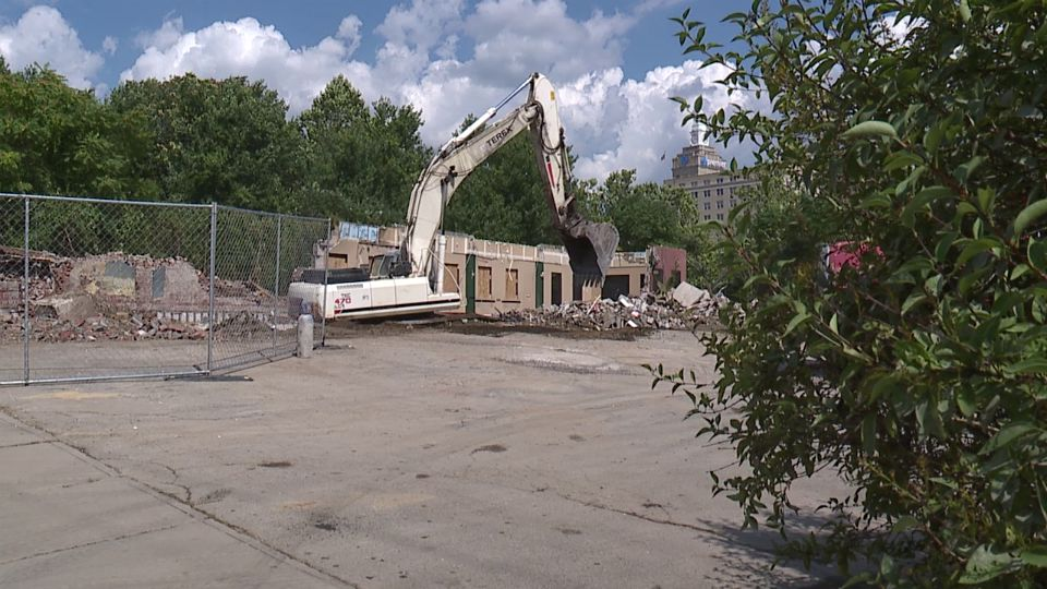 The demolition of a 110-year-old building near downtown Youngstown had one city councilman questioning if the demolition was needed.