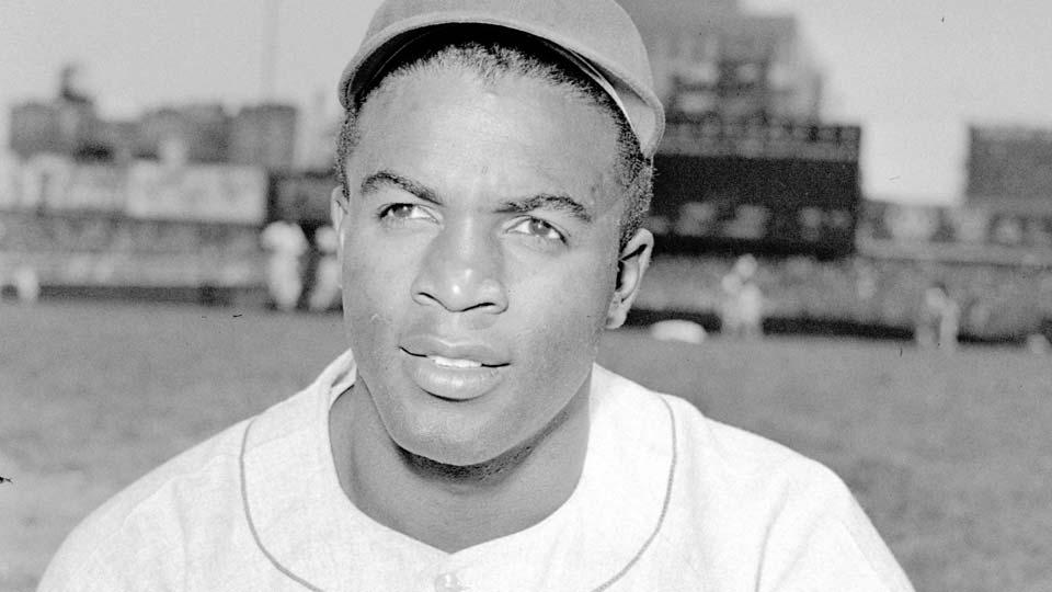 Brooklyn Dodgers baseball player Jackie Robinson