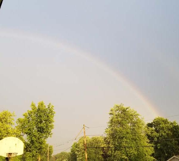 Chris, Austintown, double rainbow