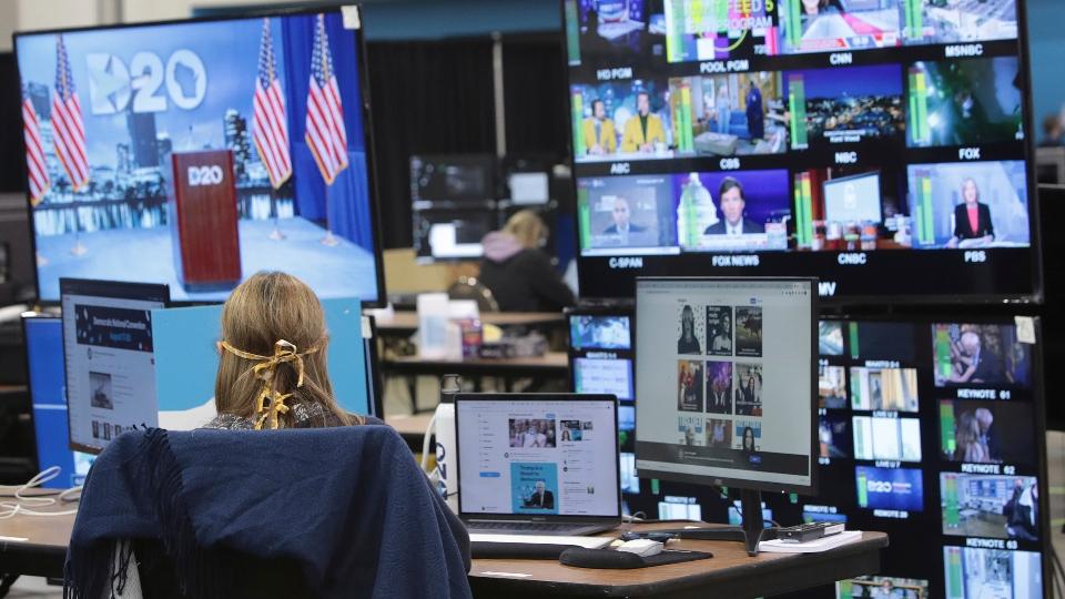 Control room, Democratic National Convention