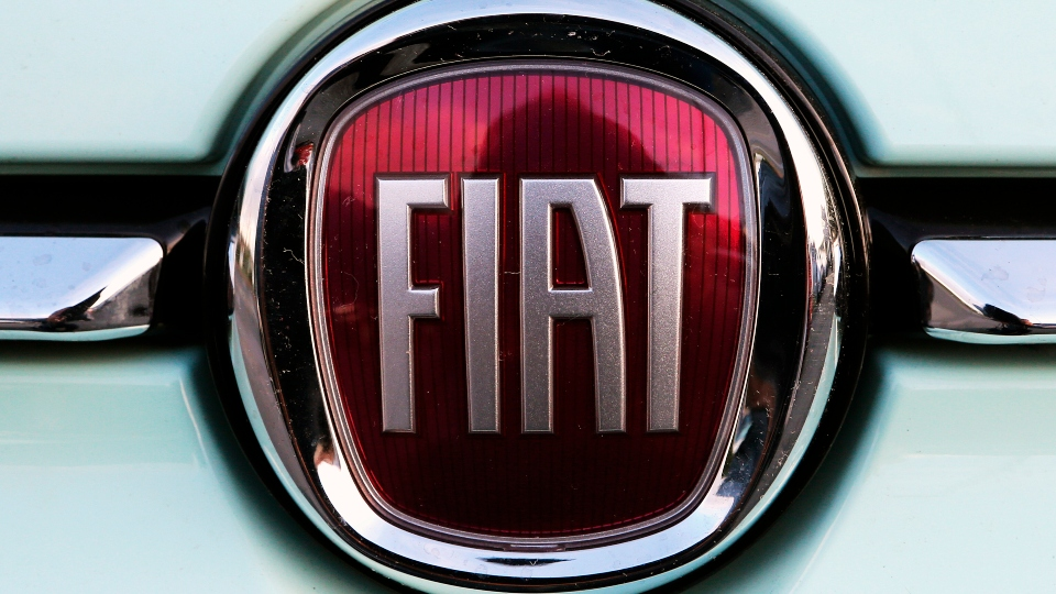 In this Oct. 31, 2019 file photo, a Fiat logo is pictured on a car in Bayonne, southwestern France.