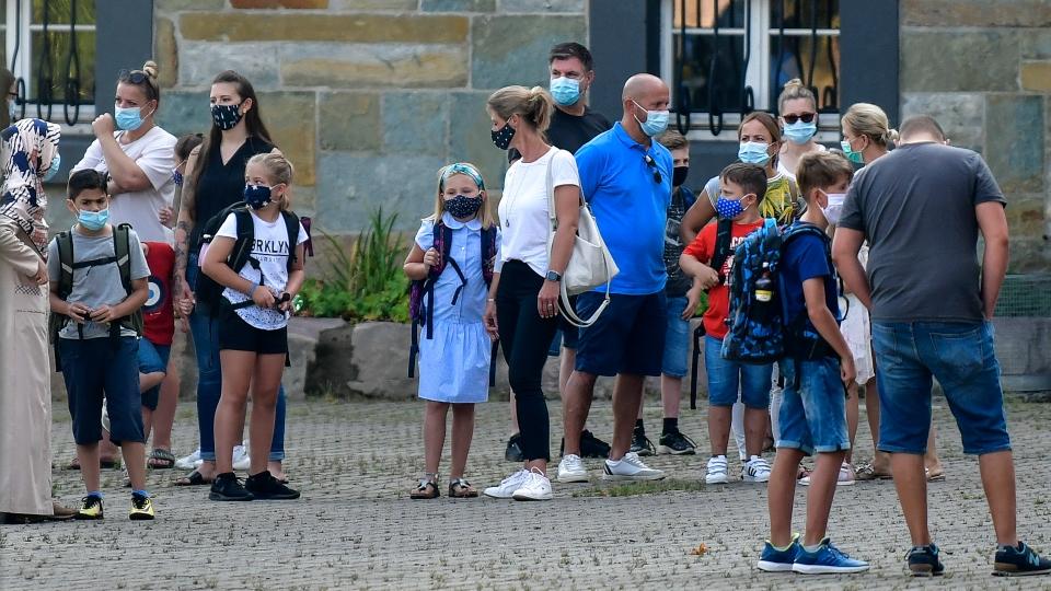 Germany, first day of school, coronavirus pandemic