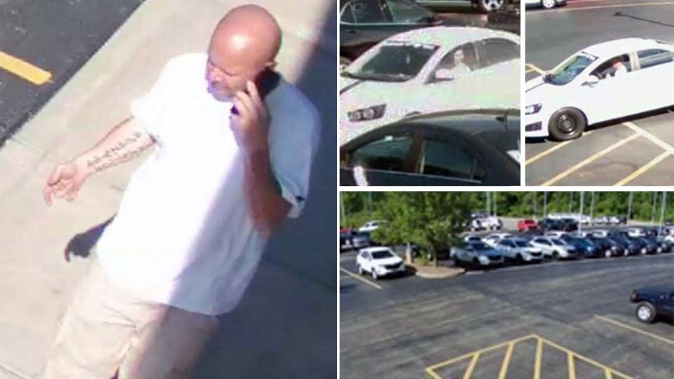 Hubbard police are looking for this man in connection to a theft from a local auto dealership