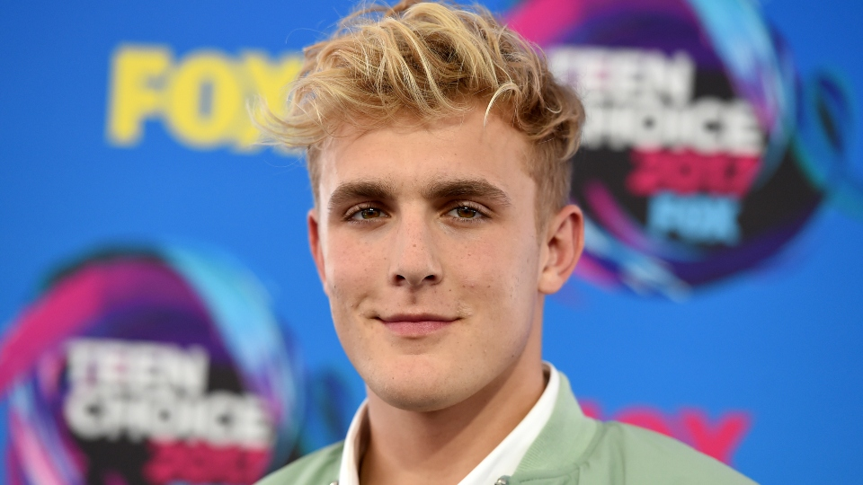 Internet personality Jake Paul arrives at the Teen Choice Awards in Los Angeles on Aug. 13, 2017.