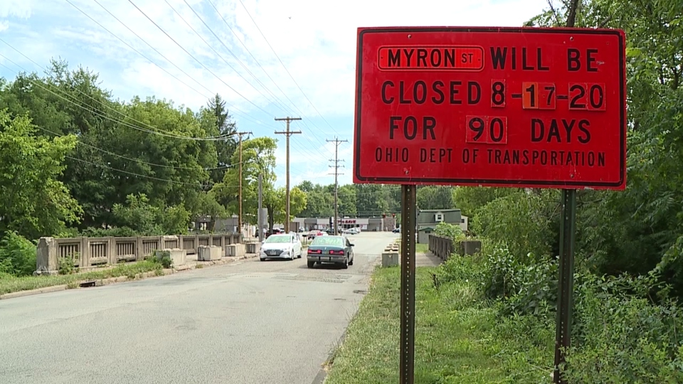 Myron Street bridge replacement, Hubbard