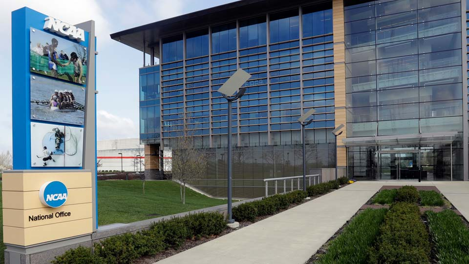 NCAA headquarters in Indianapolis is viewed