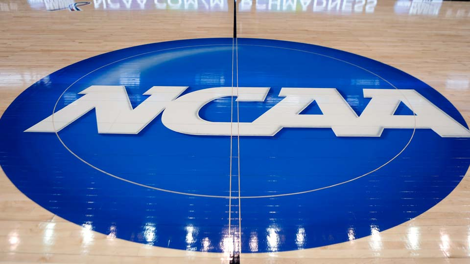 NCAA logo is displayed at center court