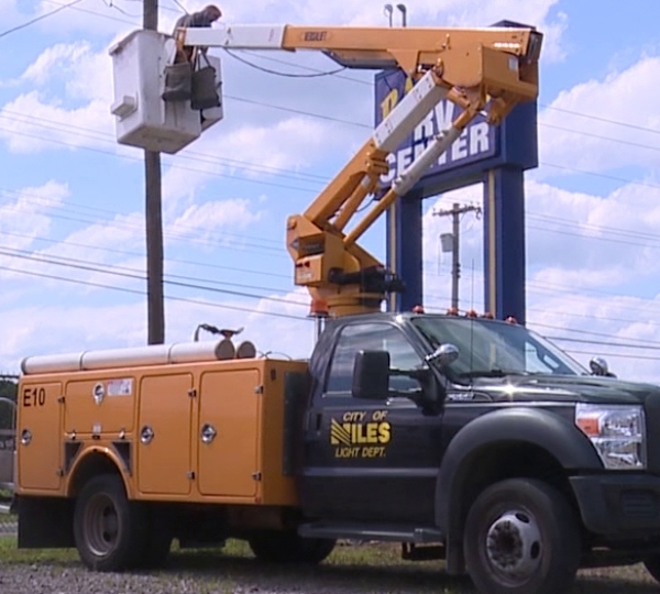 The owner of ASAP Sanitary Services in Weathersfield Township says Niles shut his power off because he wouldn't annex