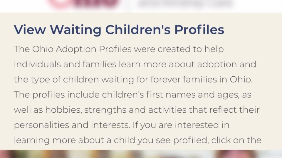 Ohio agency website, foster care.