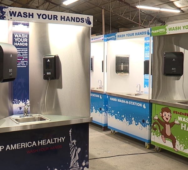 Personal Protected hand washing stations, New Springfield