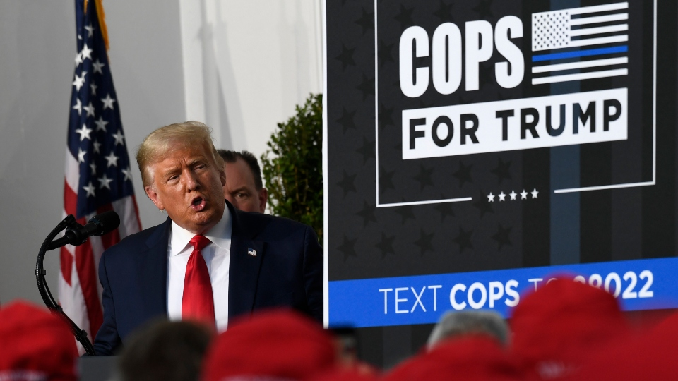 President Donald Trump, New York Police Union endorsement