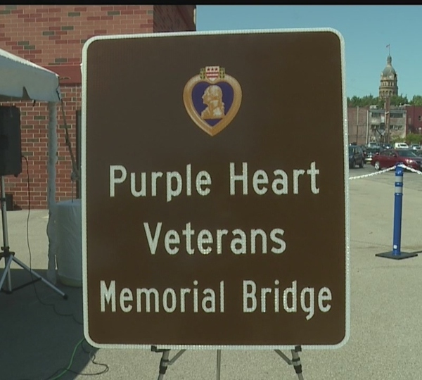 Purple Heart Veterans Memorial Bridge in Girard.