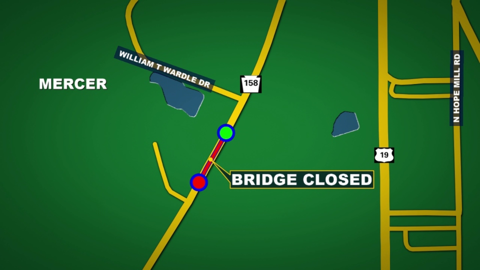 Route 158 bridge replacement, Mercer County