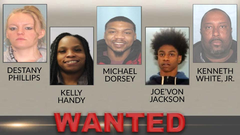 Youngstown Area Top Five Wanted Fugitives, August 25, 2020