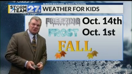 Fall will be here soon - See when our 1st Frost/Freeze typically arrives