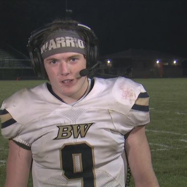 Brookfield Warrios Haden Gibson player of the game