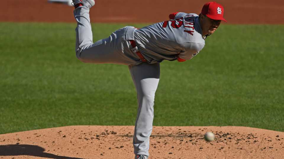 St. Louis Cardinals starting pitcher Jack Flaherty delivers during the first inning of a baseball game against the Pittsburgh Pirates, Sunday, Sept. 20, 2020, in Pittsburgh.