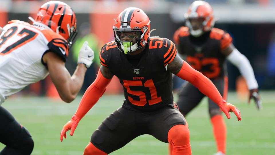 Cleveland Browns linebacker Mack Wilson (51)
