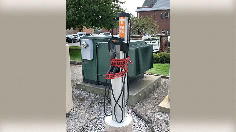 Columbiana electrical vehicle charging station