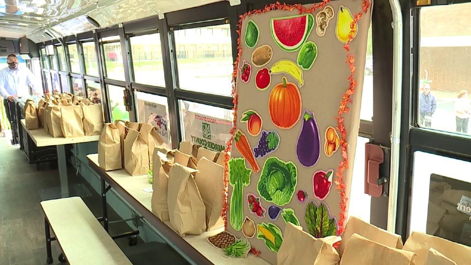 Community Food Warehouse in Mercer food bus