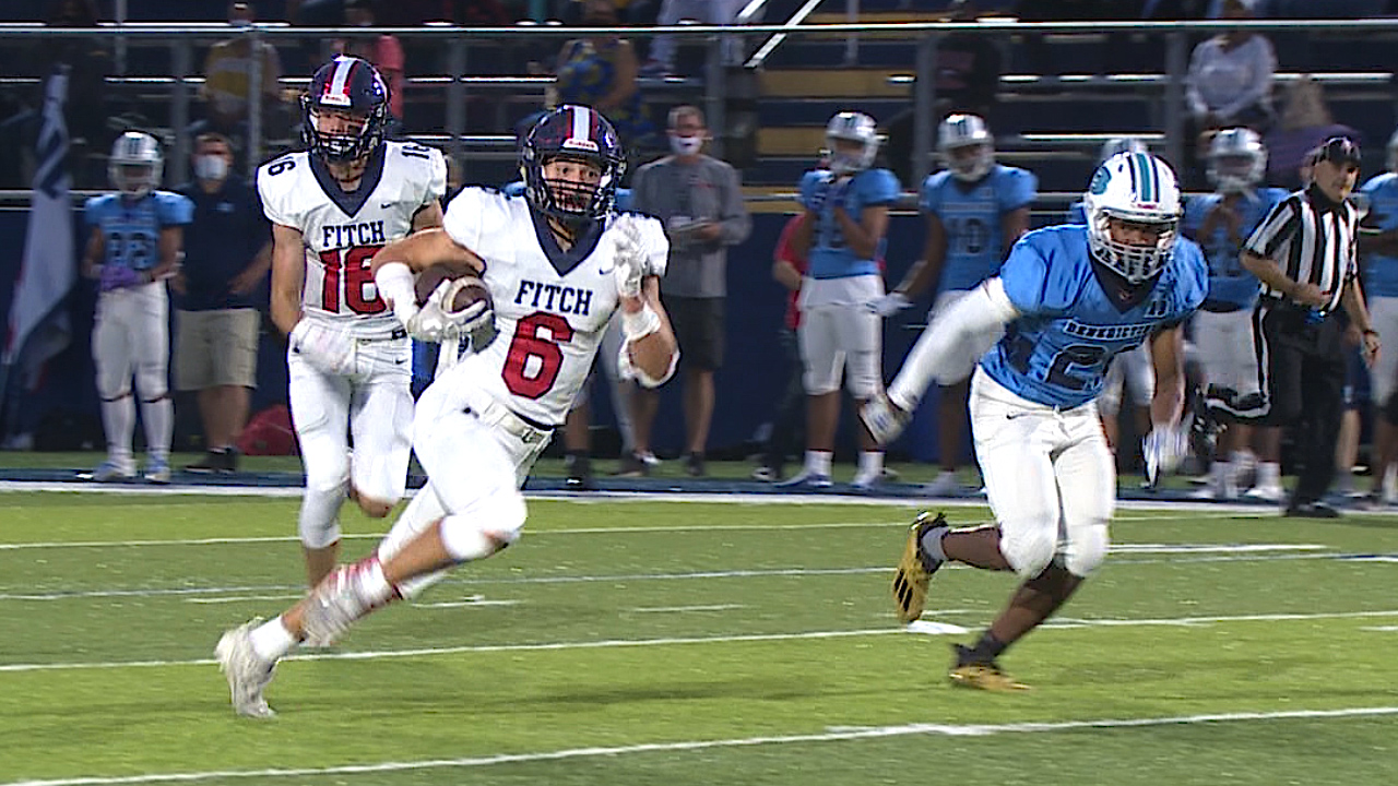 Nate Leskovac ran for a pair of scores and caught a touchdown pass for Fitch