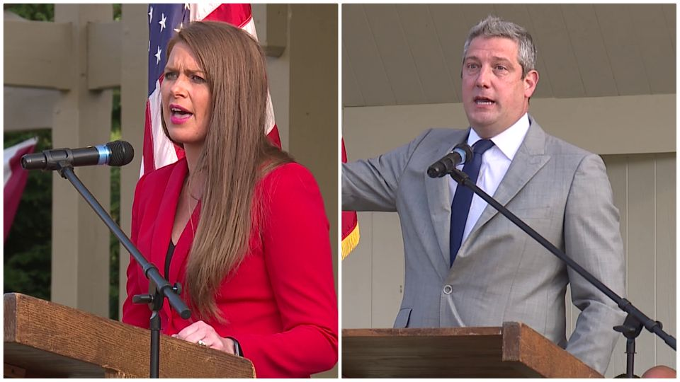 For the first time in the campaign, Tim Ryan and Christina Hagan appeared together on the same stage Monday and talked about why they should represent the 13th District in Congress.